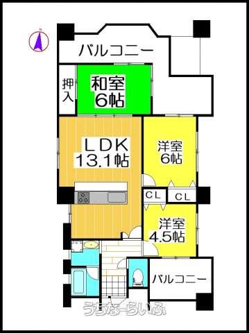 ライオンズマンションほたる橋第2 2F号